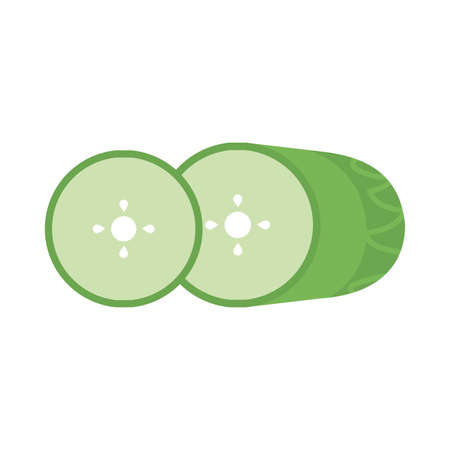 fresh and healthy vegetable, cucumber on white background vector illustration design