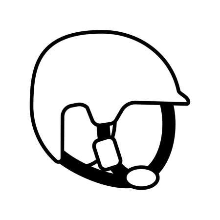 safety helmet on white background vector illustration design