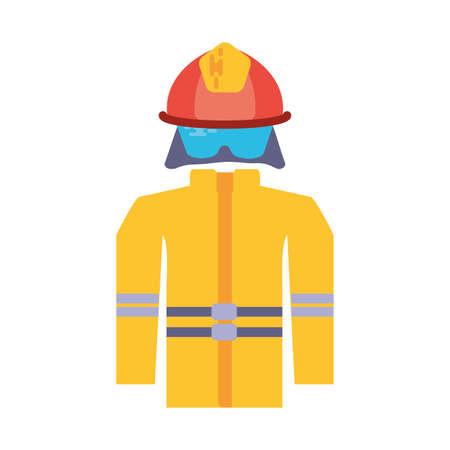 firefighter suit on white background vector illustration design