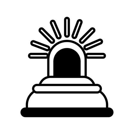 safety siren in white background vector illustration design