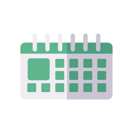 calendar icon over white background, flat style, vector illustration