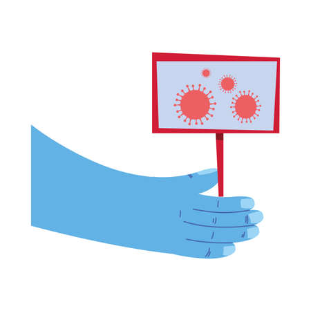 care in the hands of the coronavirus vector illustration design