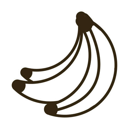 banana on white background, line style icon vector illustration design Иллюстрация