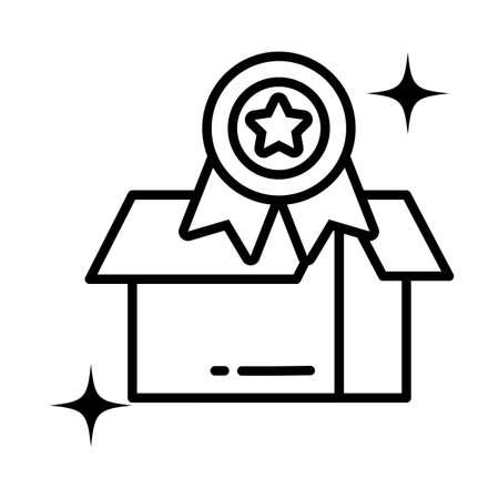 cardboard box , line style icon vector illustration design