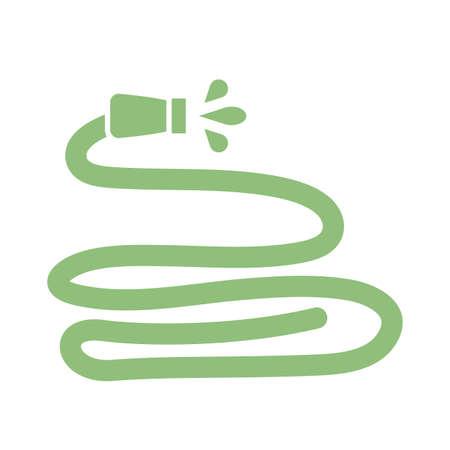 water hose icon over white background, silhouette style, vector illustration Ilustração