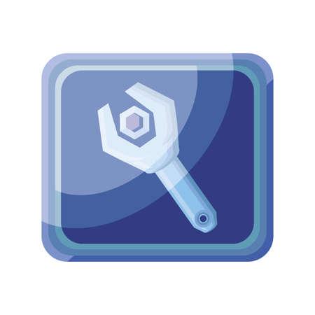 settings app on white background vector illustration design