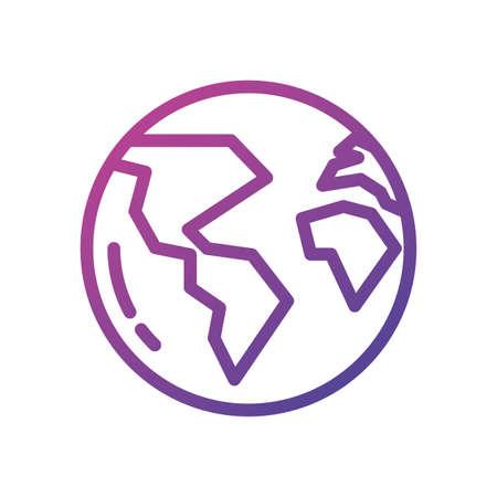 World sphere design, Planet continent earth globe ocen sea universe science and map theme Vector illustration Ilustração
