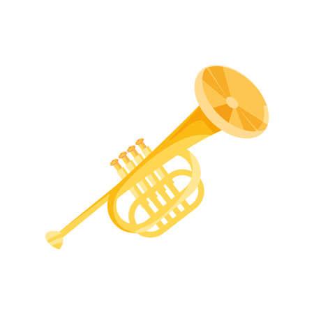 nice trumpet on white background vector illustration design