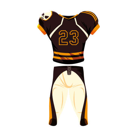 american football player outfit sport suit vector illustration design