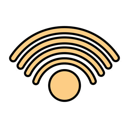 wifi symbol in white background vector illustration design