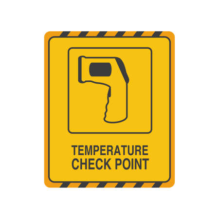 temperature check point on white background vector illustration design