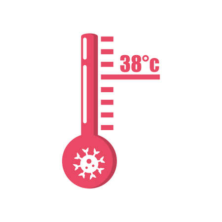 high temperature warning sign on white background vector illustration design Illustration
