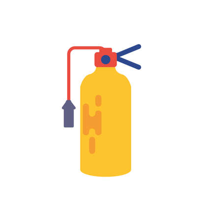 Extinguisher design, Emergency rescue save department 911 danger help safety and aid theme Vector illustration  イラスト・ベクター素材
