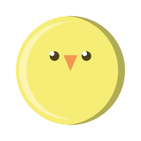 round chick on white background vector illustration design
