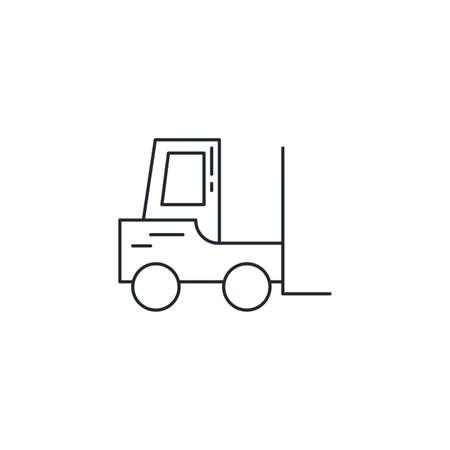 forklift design, Delivery shipping logistics transportation distribution and merchandise theme Vector illustration Zdjęcie Seryjne - 148889864