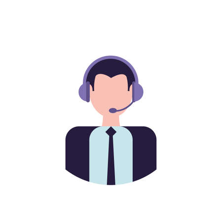 Businessman with headphone design, Man business management corporate job occupation and worker theme Vector illustration