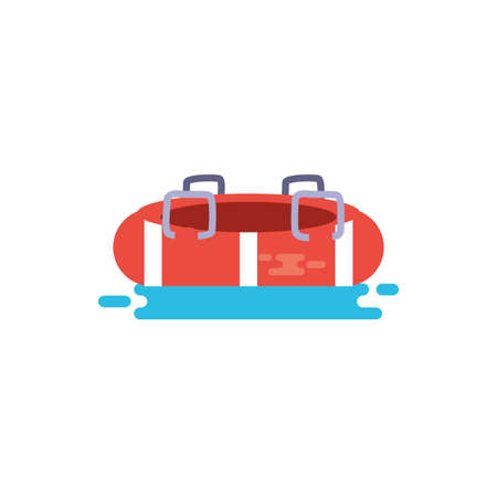Safe float design, Emergency rescue save department 911 danger help safety and aid theme Vector illustration 写真素材 - 148950959