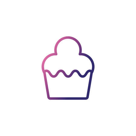delicious and fresh cupcake,gradient style icon vector illustration design