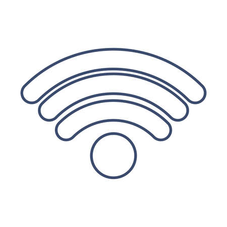 wifi symbol , line style icon vector illustration design