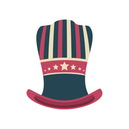 hat in american flag colors on white background vector illustration design