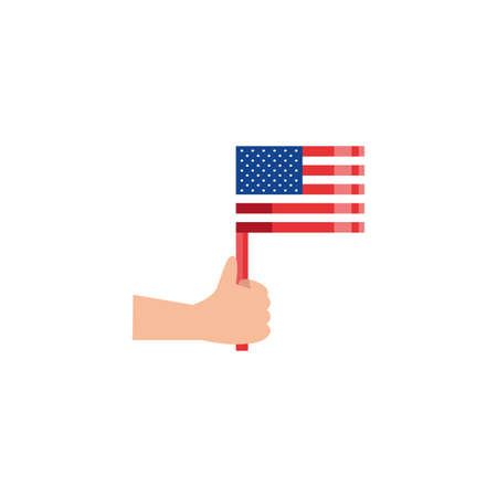 Usa flag design, United states america independence day nation us country and national theme Vector illustration Vectores