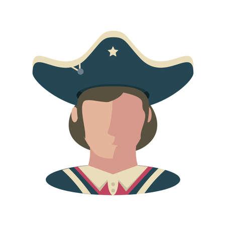 president of the united states of America on white background vector illustration design