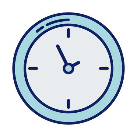 wall clock, line and fill style icon vector illustration design 向量圖像