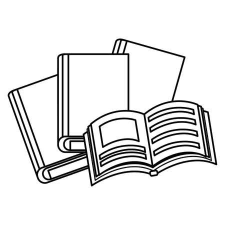 pile text books icons vector illustration design 向量圖像