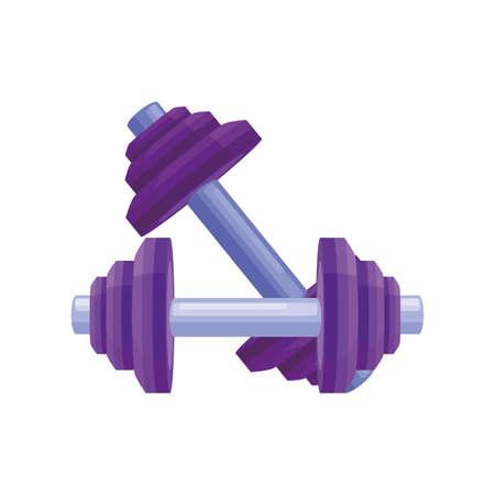 dumbbells for workout on white background vector illustration design Illustration