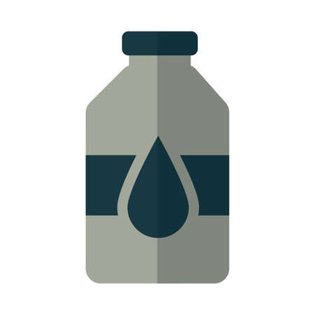 bottle with oil on white background vector illustration design