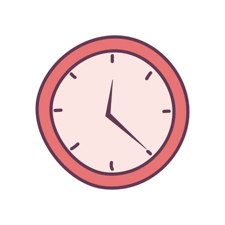 wall clock on white background vector illustration design