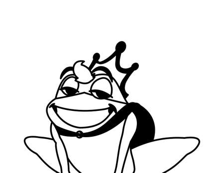 toad prince fairytale character vector illustration design Иллюстрация