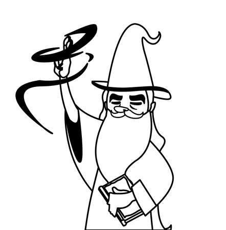 wizard of tales character vector illustration design