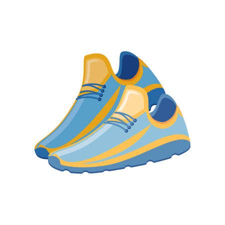 sports shoes on white background vector illustration design