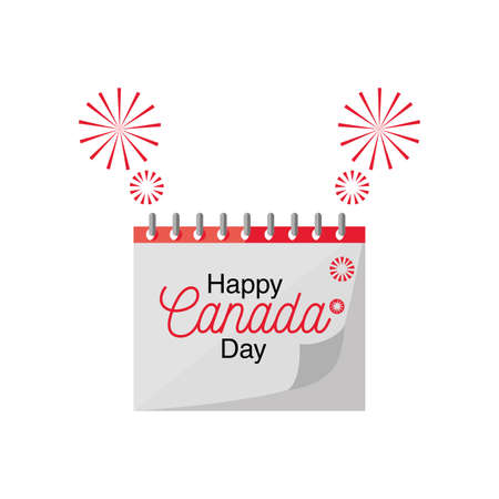 happy Canada day , country national day calendar vector illustration design 일러스트