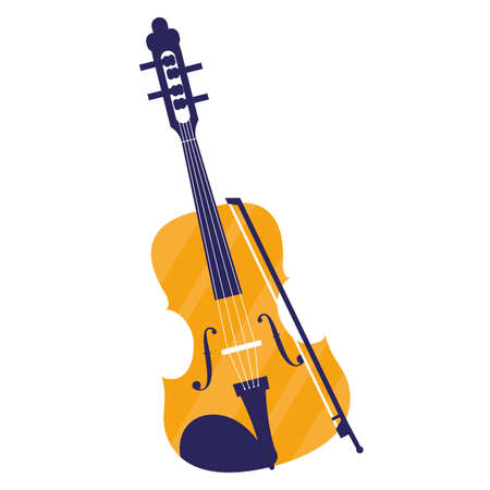fiddle instrument musical icon vector illustration design Reklamní fotografie - 149256438