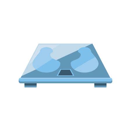 weighing machine on white background vector illustration design Ilustração