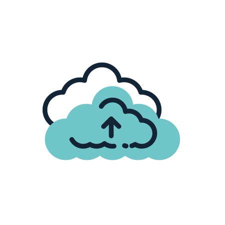 Cloud computing design, Communication internet connectivity web technology social media network and virtual theme Vector illustration Vectores