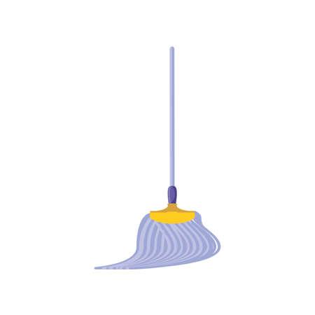 floor mopper on white background vector illustration design