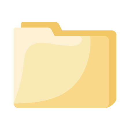 File flat style icon design, Document data archive storage organize business office and information theme Vector illustration Vectores