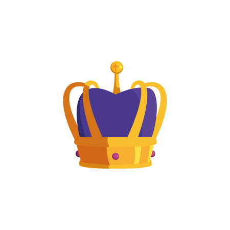 Crown design, Royal king queen luxury jewelry kingdom insignia emperor authority and coronation theme Vector illustration Vectores