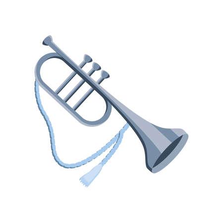 trumpet musical instrument on white background vector illustration design Çizim