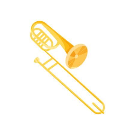 nice trumpet on white background vector illustration design Çizim