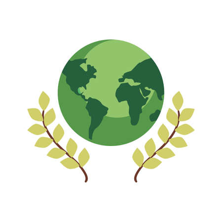 green world leaves happy earth day vector illustration Stockfoto - 149404443