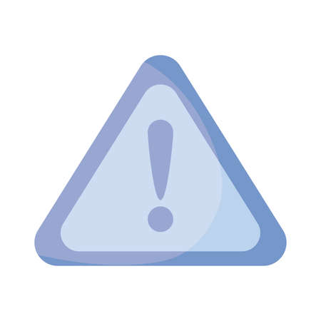 warning attention , flat style icon vector illustration design