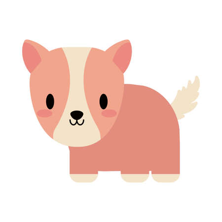 cute guinea pig baby , flat style icon vector illustration design