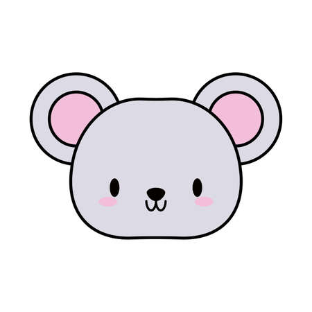 head mouse , line and fill style icon vector illustration design Illustration