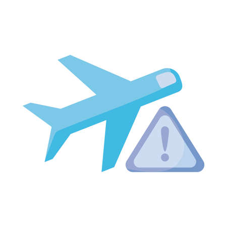 aircraft Warning glyph , flat style icon vector illustration design