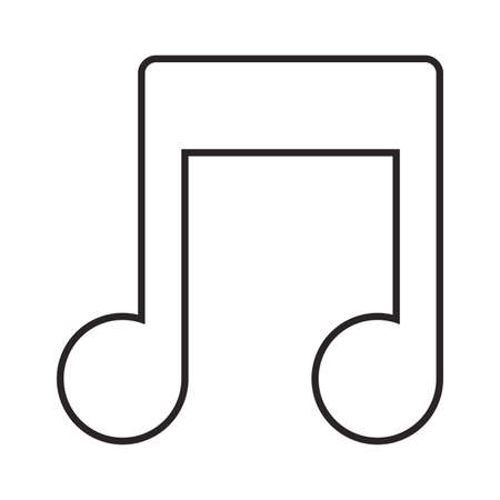 musical note icon over white background, vector illustration