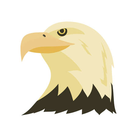 head of an eagle on white background vector illustration design Ilustrace